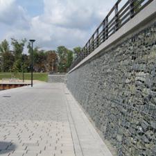 Gabionenmauer Bitterfeld